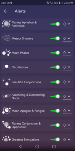 Astronomy Events with Push Android Free